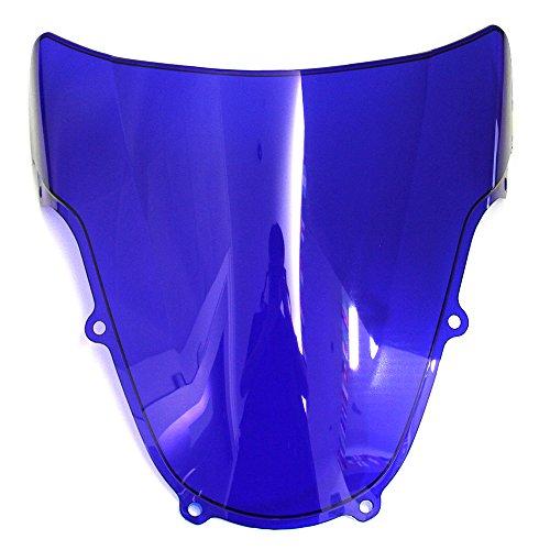 MFS MOTOR Double bubble Windshield Windscreen For Suzuki GSXR 600 GSXR 750 2001 2002 2003 GSXR 1000 2000 2001 2002 ()