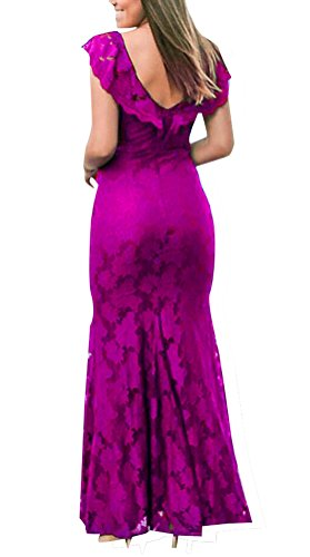 para mujer Purple 5 Xx abierta Large Vestido espalda de xPqUAI