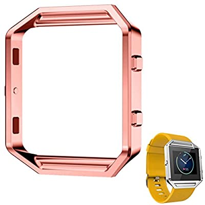 For Fitbit Blaze, Lucoo® Stainless Steel Replacement Loop Metal Frame Case for Fitbit Blaze Smart Watch