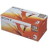 SONY 録画用VHSビデオテープ スタンダード 120分 3巻パック 3T-120VL