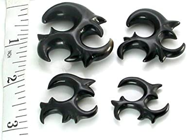 Elementals Organics Ninja Star Drop Natural Horn Hanger Body Jewelry 4mm Price Per 1 10mm