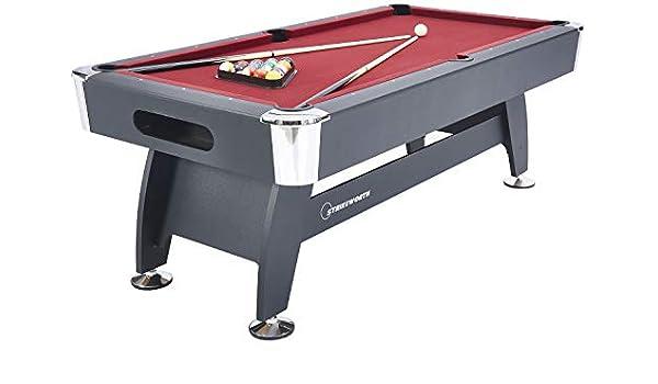Strikeworth 213,36 cm Pro lujo americano mesa de billar con tela ...