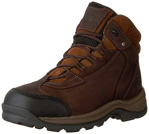 Timberland PRO Men's Ratchet Hiker CSA Work Boot, Brown Oiled Nubuck Leather, 7 W US