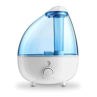 Ultrasonic Cool Mist Humidifier XL - 1-Gallon Water Tank with Variable Mist Control, Automatic Shut-Off, and Soft Night Light Options