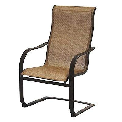 Agio International ADH10019K01 Bellevue Spring Chair - Quantity 4 (Sling Set Patio)