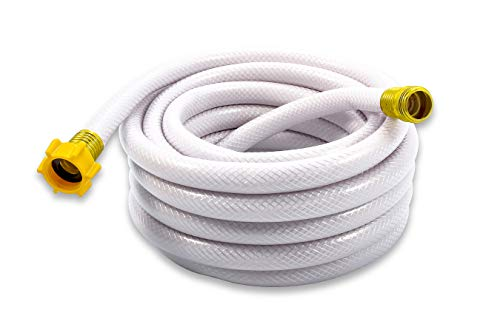 Camco 25ft TastePURE Drinking Water Hose - Lead and BPA Free, Reinforced for Maximum Kink Resistance 5/8Inner Diameter (22783)