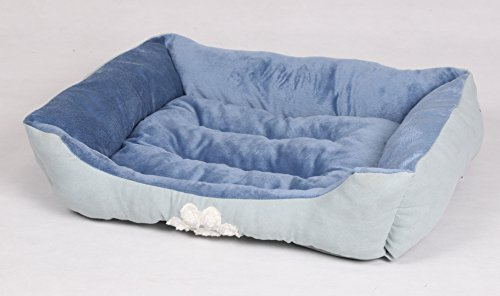 - long rich HCT-REC-007 Rectangle Reversible Pet Bed, by Happycare Textiles