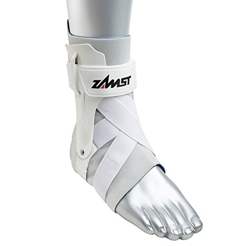 Zamst Ankle Brace Support Stabilizer: A2-DX Mens & Womens Sports Brace for Basketball, Soccer, Volleyball, Football & Baseball,White,Right,Large