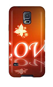 Fashion Protective Love Full Screen Case Cover For Galaxy S5