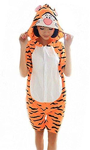 [Dobelove Adult Cartoon Animal Pajamas Cosplay Costume Sleepwear (M, Jump tiger)] (Plus Size Tiger Costumes)