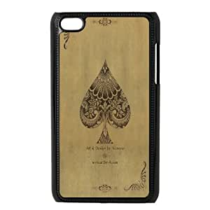 ZOEHOME Phone Case Of joker queen playing card,Hard Case !Slim and Light weight and won't fade, Scratch proof and Water proof.Compatible with All Carriers Allows access to all buttons and ports. For Ipod Touch 4