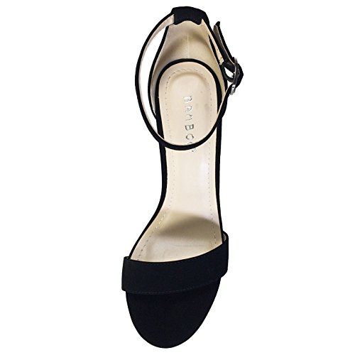 Pictures of BAMBOO Women's Single Band Chunky Heel black 2