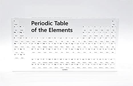 Periodic Table Of The Elements Display Case Holder For 10mm Density