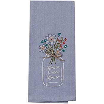 Superbe Kay Dee Designs F0747 Home Sweet Home Mason Jar Embroidered Tea Towel