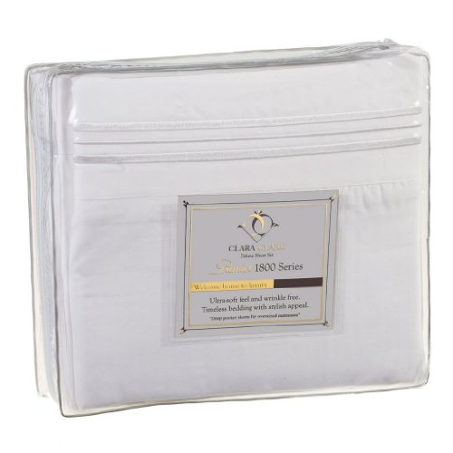 Microfiber 4pc Queen Size White Sheet Set