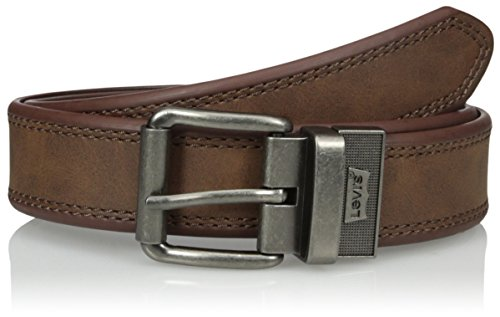 Levi's Men's  Reversible Belt With Double Stitch Edge,Tan/black,40