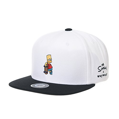 - WITHMOONS The Simpsons Baseball Cap Bart Simpson Skateboard Snapback Hat HL2964 (White)