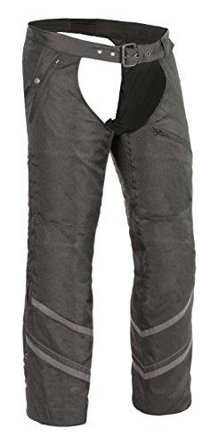 Milwaukee Performance Men's Textile Chap with Double Zip for Adjustment (Black, Medium)