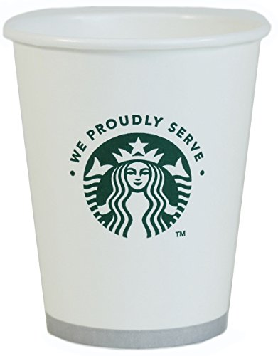 Starbucks White Disposable Hot Paper Cup, 12 Ounce, 100 Pack