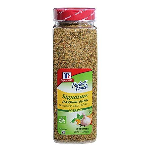 McCormick Perfect Pinch Salt Free Signature Seasoning Blend, 21 Ounce - 6 per case.