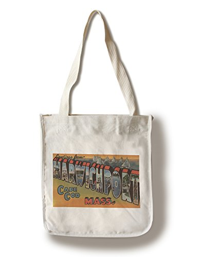 Lantern Press Greetings from Harwichport, Cape Cod, MA (100% Cotton Tote Bag - ()