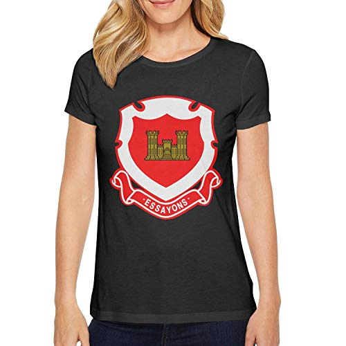 T-Shirt US Army Corps of Engineers Regimental Crest Assorted Slim-Fit Breathable Ladies' Style T Shirts ()