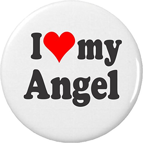 """Pinback Button Love (I Love my Angel 2.25"""" Large Pinback Button Pin)"""