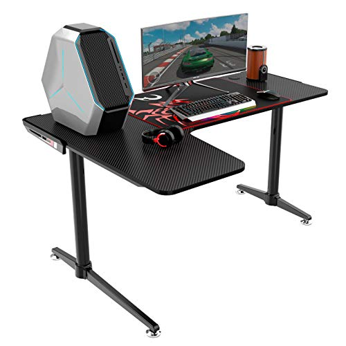Eureka Ergonomic L60 Gaming Desk – PC Gaming Desk, L Shaped Computer Gaming Desk, 60 X 43 Desktop,Black