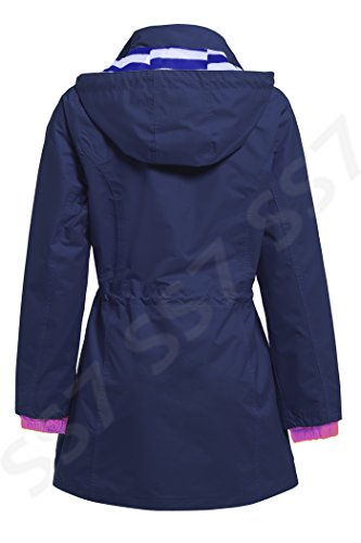 NEUF SS7 Femmes Coupe Vent Impermable, Marine, Tailles 36  44 Marine/Lilas