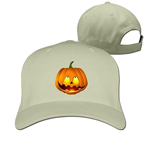 [Pumpkin Face Halloween Unisex Fishing Hat & Cap Natural] (Halo Halloween Costumes Elite)