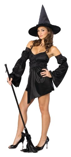 Secret Wishes  Costume Naughty Cauldron Witch Costume, Black, Small Cauldron Witch Adult Costume