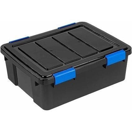 Small WeatherShield Storage Box 1 Ziploc 26.5 Qt Black