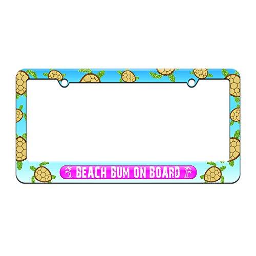 beach bum license plate frame - 9