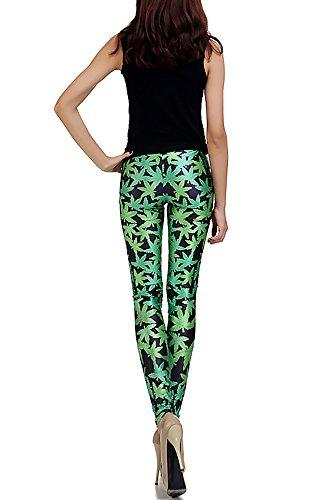 World of Leggings Marijuana Leaf OS
