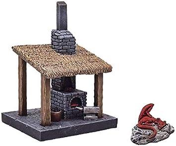 War World Gaming Fantasy Village - Fragua de Herrero - 28mm Wargaming Medieval Miniaturas Maquetas Dioramas Edificios Wargames Guerra Aldea Edad Media: Amazon.es: Juguetes y juegos