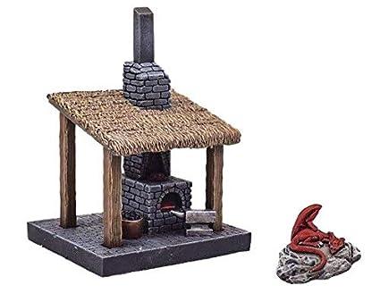 Amazon com: War World Gaming Fantasy Village Blacksmiths Forge