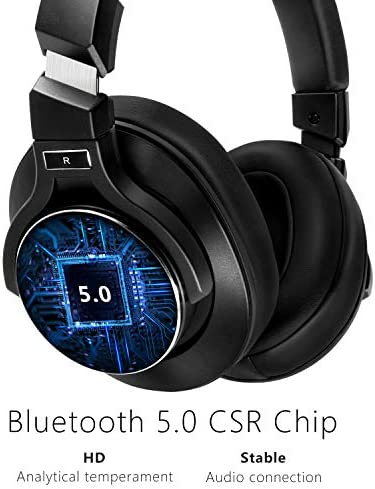 Noise Cancelling Headphones Bluetooth V5.0 Wireless,40Hours Playtime Headsets Over Ear with Microphones&Fast Charge,Srhythm NC75 Pro for TV/PC/Cell Phone - Low Latency