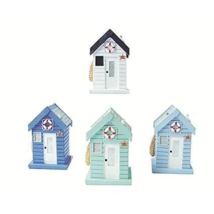 Resina diseño de caseta de playa, azul