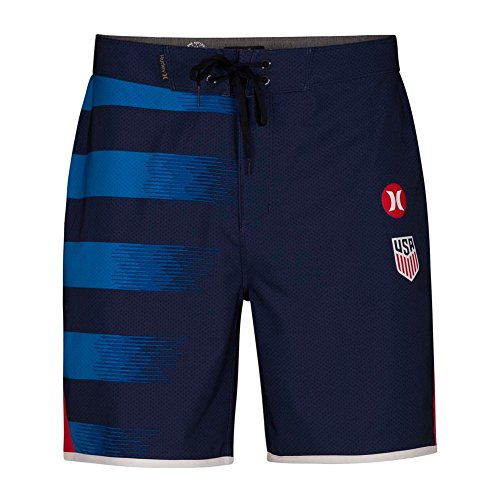 (Hurley Men's Phantom USA Away National Team 18 in Boardshorts, Midnight Navy (410), 29)