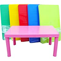 Fiore Large Plastic Rectangular Children's Table with Removable Legs - Matching Chairs Available (Table Only, Blue)