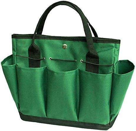 ツールバッグ ポケットオックスフォード布ガーデンツールバッグ、木工パワーツールバッグ多機能工具収納ハンドバッグの機能テクニシャンハンドバッグ 工具収納便利 (Color : Green, Size : One size)