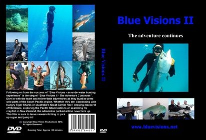 Blue Visions II - The Adventure Continues Spear Fishing DVD, Freediving DVD, Free Diving DVD, Diving DVD, Scuba DVD Freedive Freediving Freediver Free Diver Fish Scuba Dive - Edge Spear