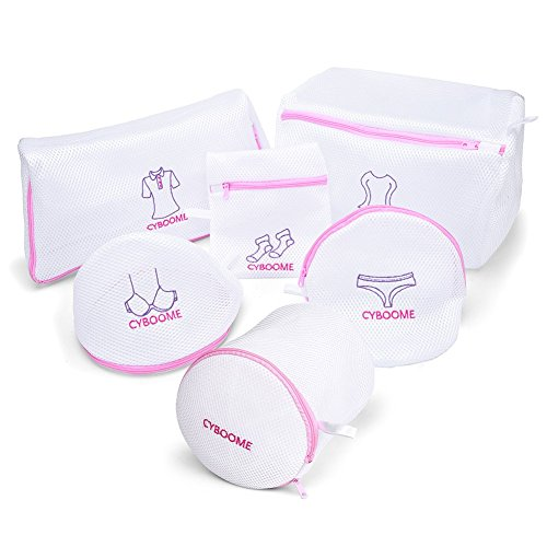 DELICATES LAUNDRY BAGS - Elaborate Combination Set of 5 BONUS 1 Large Bras Bag, Reinforced Double-Layered Mesh