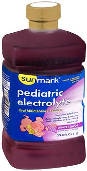 Sunmark Pediatric Electrolyte Grape Flavor - 33.8 oz, Pack of 4 by Perrigo Company Sm (Image #1)