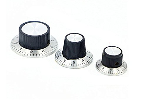 BLS 3PCS 29mm x 18mm Potentiometer Control Volume Rotary Digital Knob Cap