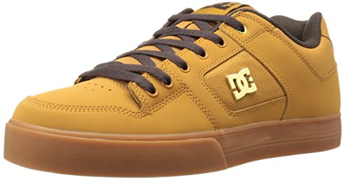 DC Men's Pure SE Skateboarding Shoe, Wheat/Dark Chocolate, 12 M US