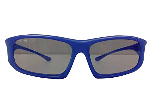 UltraByEasyPeasyStore 1 Pair of Blue Adults Passive 3D Glasses universal in a wraparound style for all Passive TVs Cinema & Projectors such as RealD Toshiba LG Panasonic & more