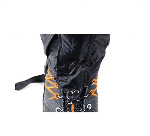 nalmatoionme al aire libre impermeable montañismo senderismo pierna cubre–negro (1par)