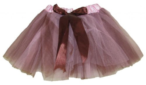 Two Toned Tutu (Pink & Brown 5 Layer Two Toned Dance or Ballet Tutu)