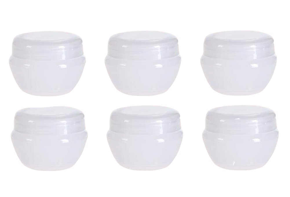10G 10Gram 10ML Durable Refillable Travel Cosmetic Sample Containers Plastic Pot Jars Make up Face Cream Lip Balm Storage Containers Bottles with Internal Leak Proof Lid Transparent (6 Pcs) erioctry